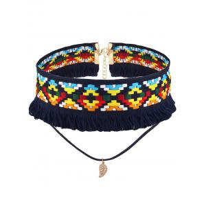 Leaf Layered Crochet Choker Necklace