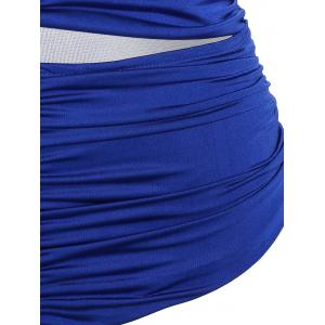 Strapless Ruched Cut Out One Piece Bathing Suit -