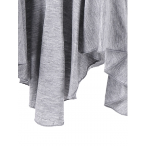 Asymmetric Two Tone T-Shirt -