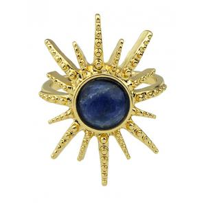 Fake Gemstone Sun Ring