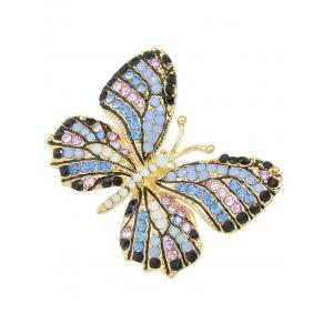 Broche papillon ornée diamants -