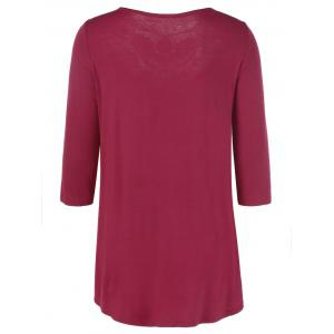 Tunic Lace Panel T-Shirt -