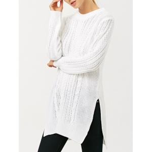 Side Slit Cable Knit Jumper