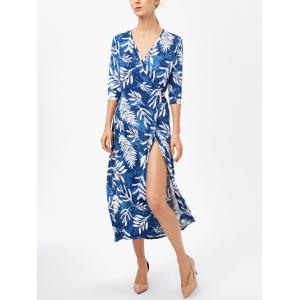 Maxi Patterned Beach Swing Wrap Dress