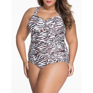 Leopard Plus Size Bandeau Bathing Suit