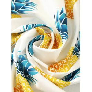 Round Pineapple Printed Tassel Beach Throw -