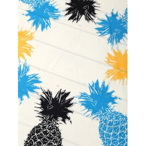 Round Pineapple Patterned Tassel Beach Throw - WHITE ONE SIZE