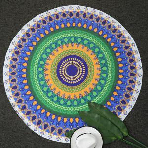 Geometrical Print Round Beach Throw