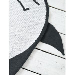 Cartoon Fish Shape Knitted Unisex Baby Blankets - DEEP GRAY