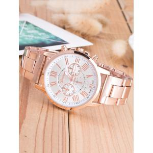Roman Numeral Quartz Watch - WHITE