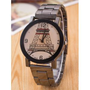 Eiffel Tower Alloy Quartz Watch with Rhinestones