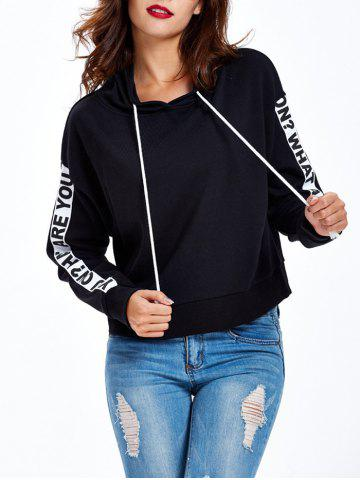 Cheap Graphic Letter Pullover Hoodie - XL BLACK Mobile