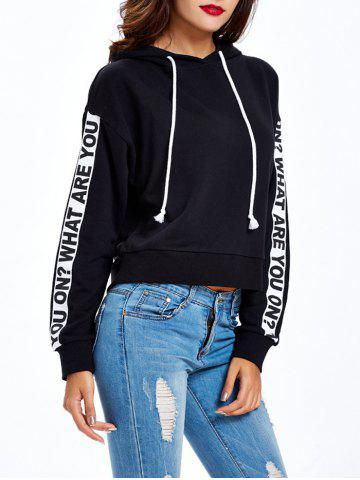 Affordable Graphic Letter Pullover Hoodie - XL BLACK Mobile