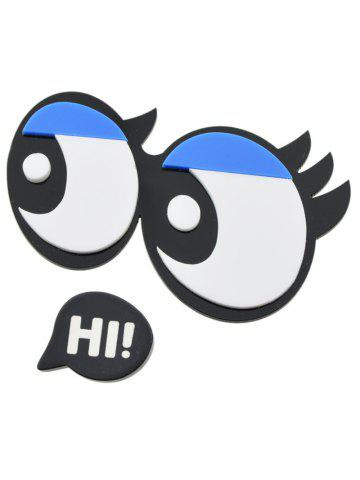 Cheap Cartoon Eyes Letter Brooch - BLACK  Mobile