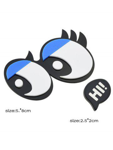 Best Cartoon Eyes Letter Brooch - BLACK  Mobile