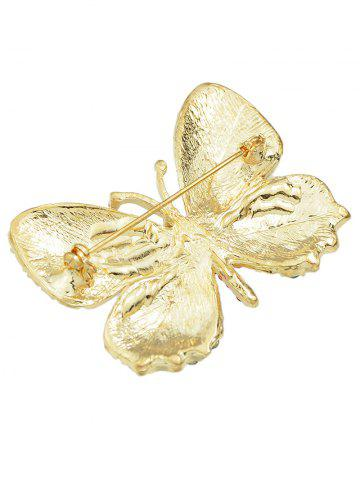 Outfits Rhinestone Studded Butterfly Brooch - BLUE  Mobile