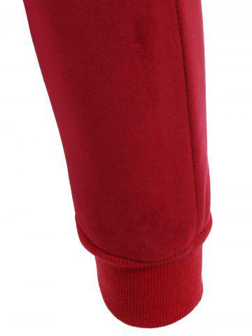 Shop Embroidered Sweatshirt and Running Jogger Sweatpants - 3XL RED Mobile