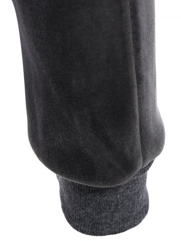 Discount Embroidered Sweatshirt and Running Jogger Sweatpants - 3XL DEEP GRAY Mobile