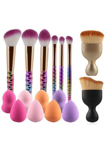 8 Pcs Makeup Brushes and Makeup Sponges - Colormix