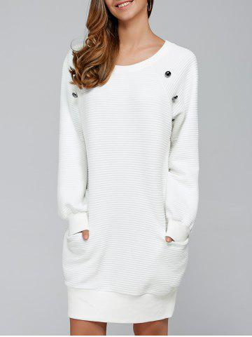 Unique Shift Long Sleeve Mini Dress