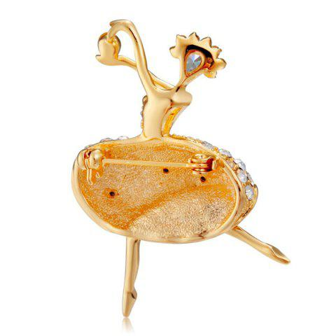 Outfit Rhinestone Fairy Brooch - GOLDEN  Mobile