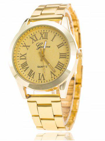 Fancy Roman Numerals Quartz Watch YELLOW