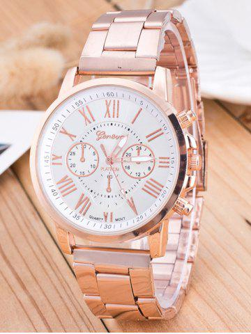 Shops Roman Numeral Quartz Watch WHITE