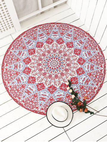 Online Indian Round Printed Mandala Beach Throw RED ONE SIZE