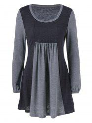 Plus Size Tunic Ruched T-Shirt