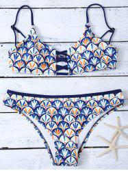 Fish Scales Cami Bikini Set