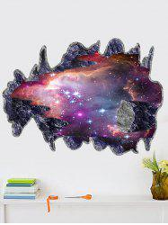 Removable 3D Space Meteorites Bedroom Wall Sticker Planet - COLORMIX