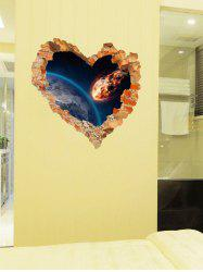 Vinyl Removable 3D Love Broken Wall Sticker