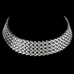 Collier en alliage large - Argent