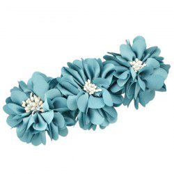 Floral Alloy Barrette - LIGHT BLUE