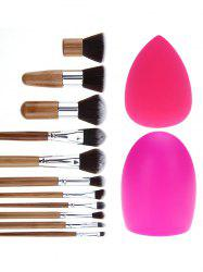 11 Pcs Makeup Brushes Set + Brush Egg + Makeup Sponge