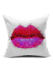 Lip Pattern Throw Pillow Case
