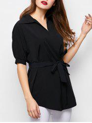 Half Sleeve Loose Long Casual Shirt