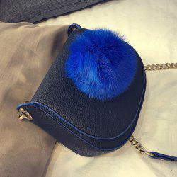 Pompon Chains Textured Saddle Bag