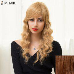 Siv Hair Long Inclined Bang Shaggy Wavy Human Hair Wig