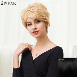 Siv Hair Short Layered Curly Side Bang Pixie Human Hair Wig