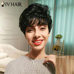 Siv Hair Short Layered Shaggy Side Bang Curly Human Hair Wig