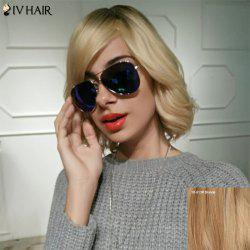 Siv Hair Short Oblique Bang Silky Wavy Bob Human Hair Wig