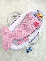 Little Mermaid Knitted Baby Girl Blankets