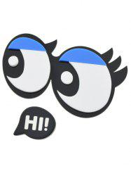 Cartoon Eyes Letter Brooch