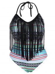 Fringe Tribal Print Plus Size Swimwear
