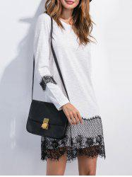 Lace Panel T Shirt Mini Dress