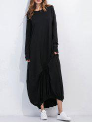 Loose Long Sleeve Maxi Dress With Sleeves