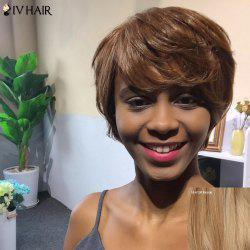Siv Hair Short Layered Curly Side Bang Human Hair Wig