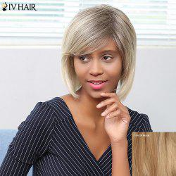 Siv Hair Short Shaggy Side Bang Straight Bob Human Hair Wig