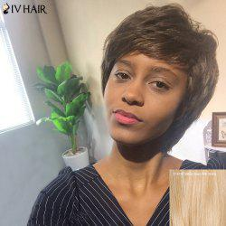 Siv Hair Short Layered Side Bang Curly Human Hair Wig